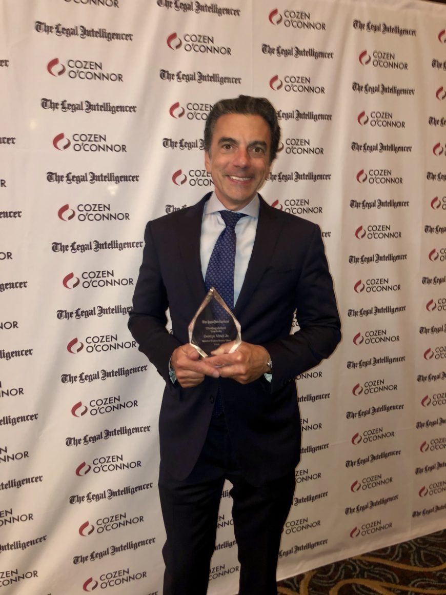 George M. Vinci, Jr. Selected as 2019 Professional Excellence Award Winner by The Legal Intelligencer
